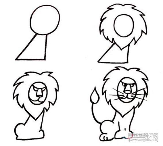 小动物的简笔画-狮子王简笔画_小动物的简笔画