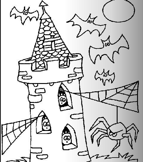简笔画 万圣节蜘蛛和蝙蝠的简笔画