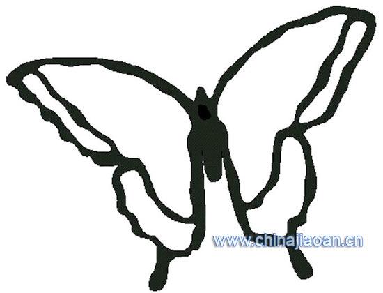 蝴蝶动物简笔画简笔画 蝴蝶动物简笔画图片欣赏 蝴蝶动物简笔画儿童