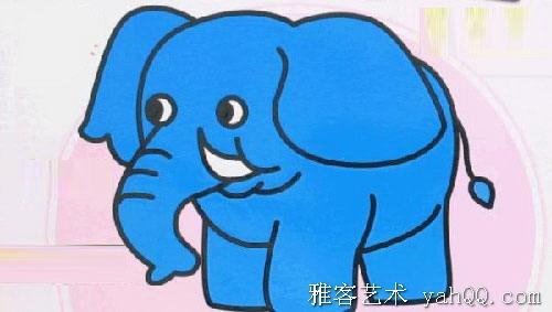 简笔画-胖胖的大象动物简笔画