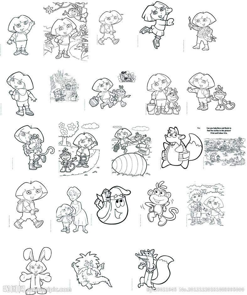 春天里的小动物简笔画