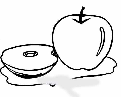 甜甜的苹果简笔画 甜甜的苹果图片欣赏 甜甜的苹果儿童画画作品
