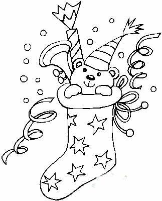 简笔画教程图片欣赏 教你画圣诞袜的简笔画教程儿童画画作品