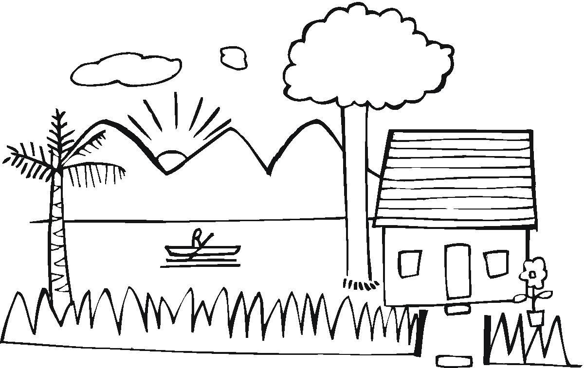 兒童畫畫 簡筆畫 海邊的風景兒童畫畫
