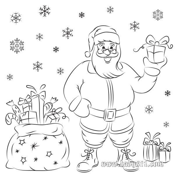 圣诞老人简笔画,圣诞老人图片简笔画,圣诞老人简笔画大全,简笔画