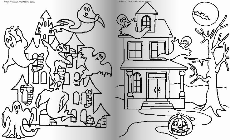 简笔画-城堡的幽灵