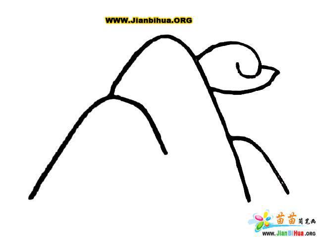 儿童画画 简笔画 远处的大山风景简笔画儿童画画