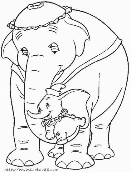 可爱卡通动漫简笔画 长鼻子大象简笔画 可爱卡通动漫简笔画 长鼻子大