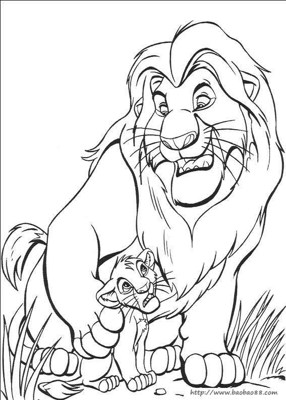 儿童画画 简笔画 卡通动物简笔画-威武的狮子王儿童画画  上一张下一
