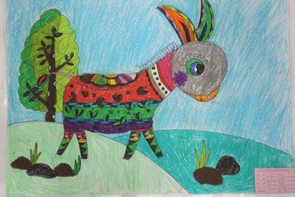 小毛驴穿花衣简笔画_小毛驴穿花衣图片欣赏