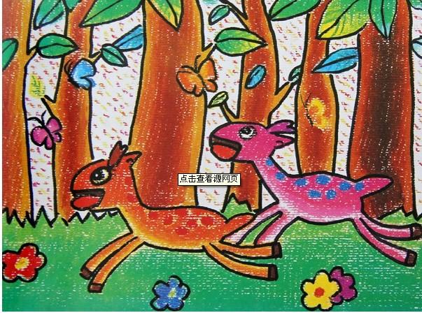 小鹿快跑简笔画_小鹿快跑图片欣赏_小鹿快跑儿童画画