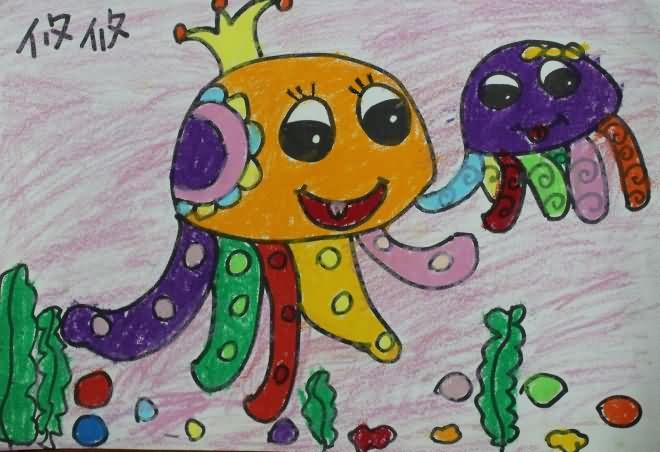 章鱼宝宝简笔画_章鱼宝宝图片欣赏