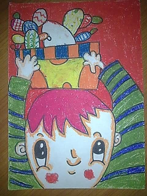 小姑娘果盘简笔画 小姑娘果盘图片欣赏 小姑娘果盘儿童画画作品