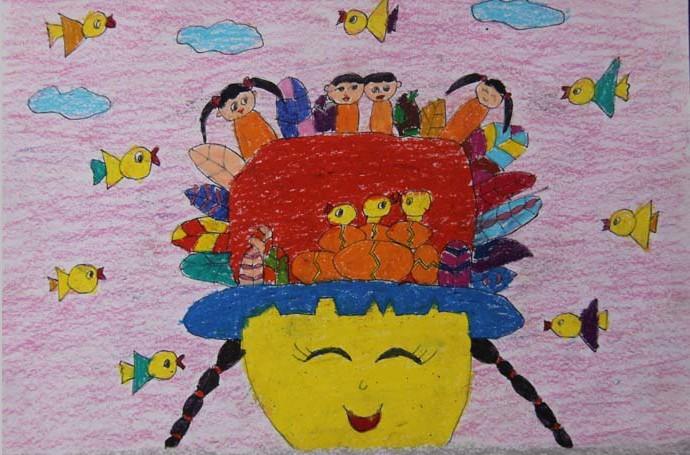 我和小鸟的家简笔画 我和小鸟的家图片欣赏 我和小鸟的家儿童画画作品
