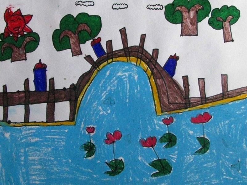瀑布简笔画 瀑布图片欣赏 瀑布儿童画画作品