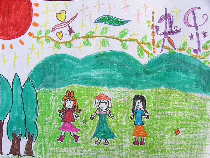 六一快乐简笔画 六一快乐图片欣赏 六一快乐儿童画画作品