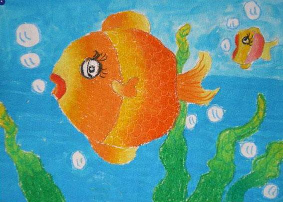大鱼小鱼简笔画_大鱼小鱼图片欣赏_大鱼小鱼儿童画画