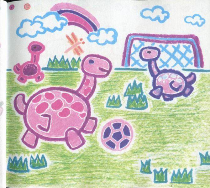 小恐龙踢足球简笔画_小恐龙踢足球图片欣赏