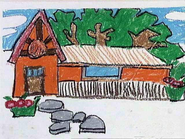 儿童画画 数字油画 家儿童画画