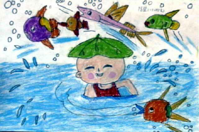 宝宝洗澡澡简笔画 宝宝洗澡澡图片欣赏 宝宝洗澡澡儿童画画作品