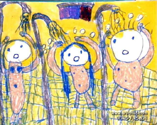 我们洗澡ing简笔画 我们洗澡ing图片欣赏 我们洗澡ing儿童画画作品
