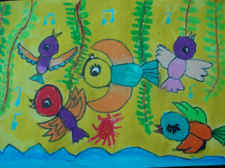 树上的小鸟简笔画 树上的小鸟图片欣赏