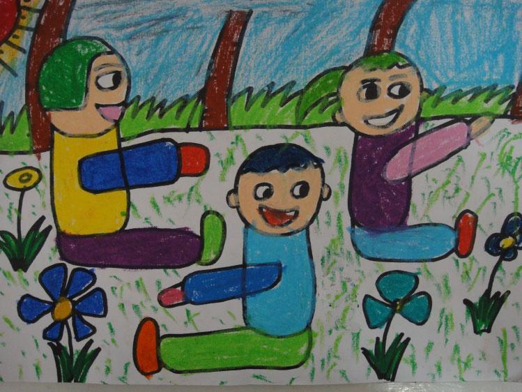儿童彩色简笔画图片内容图片展示_儿童彩色简笔画图片