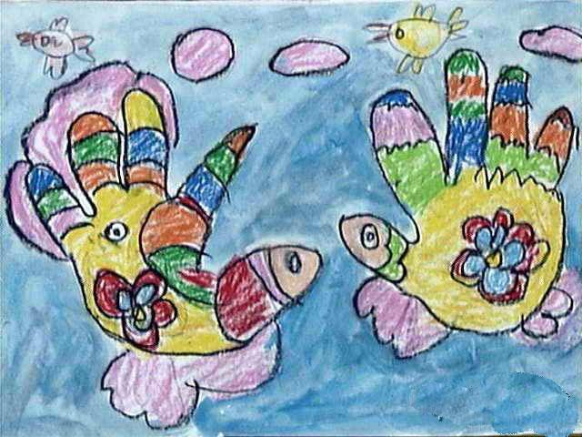 两条小金鱼简笔画 两条小金鱼图片欣赏 两条小金鱼儿童画画作品