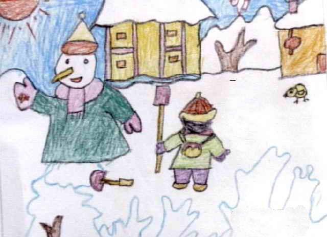 数字油画-堆雪人