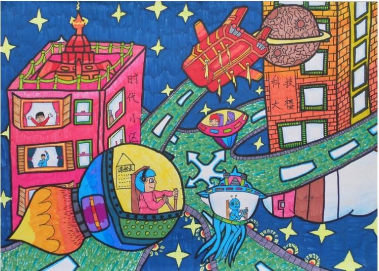 太空生活简笔画_太空生活图片欣赏_太空生活儿童画画