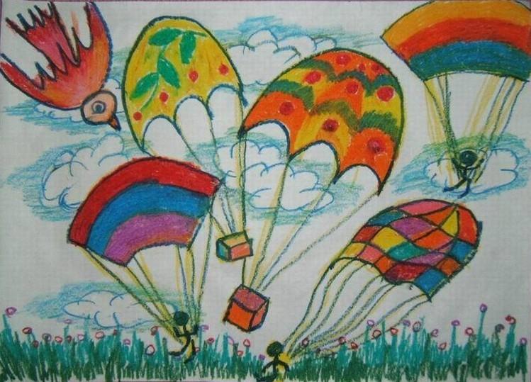 降落伞与小鸟简笔画_降落伞与小鸟图片欣赏