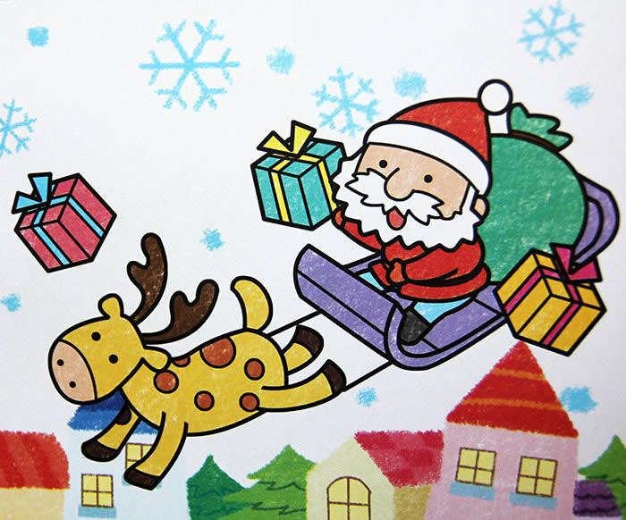 圣诞老人儿童画画