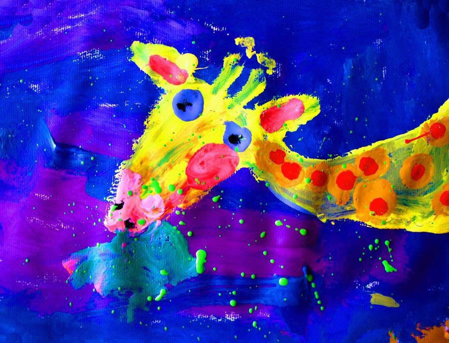 长颈鹿简笔画_长颈鹿图片欣赏_长颈鹿儿童画画作品-有