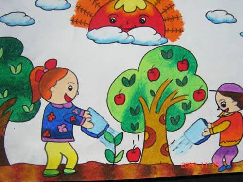 课间十分钟简笔画 课间十分钟图片欣赏 课间十分钟儿童画画作品