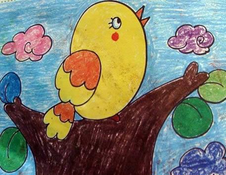 树上的小鸟简笔画_树上的小鸟图片欣赏