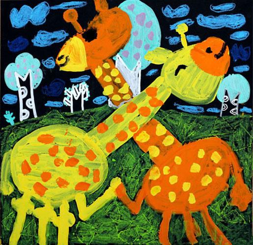 长劲鹿简笔画 长劲鹿简笔画图片大全 卡通长劲鹿简笔画-长颈鹿简笔画