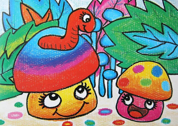 大蘑菇简笔画_大蘑菇图片欣赏