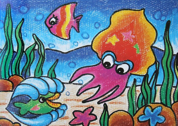 海底的大章鱼简笔画_海底的大章鱼图片欣赏