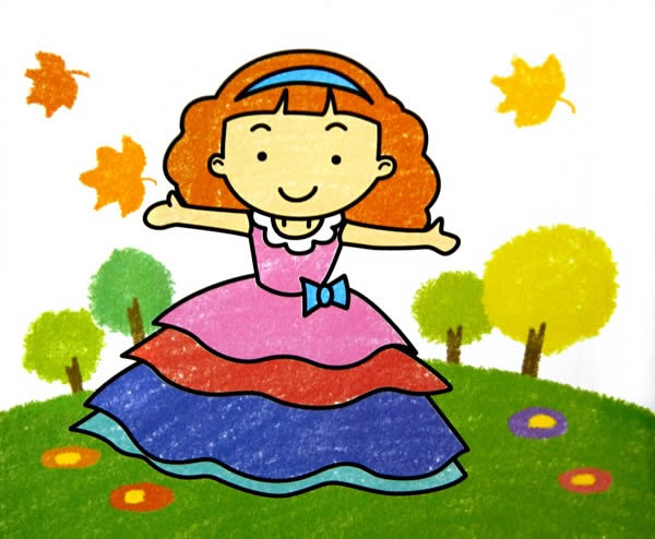 漂亮的花裙子 简笔画 漂亮的花裙子图片 欣赏图片