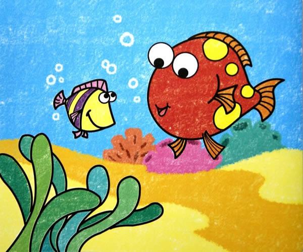 海底世界简笔画_海底世界图片欣赏_海底世界儿童画画