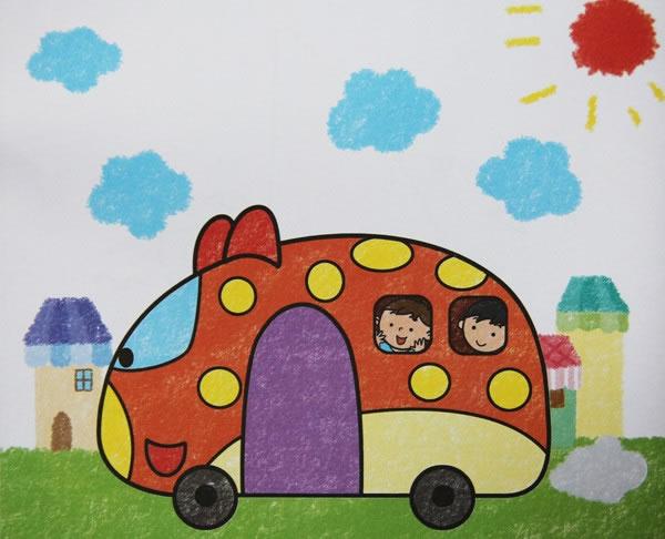 数字油画-我们的校车