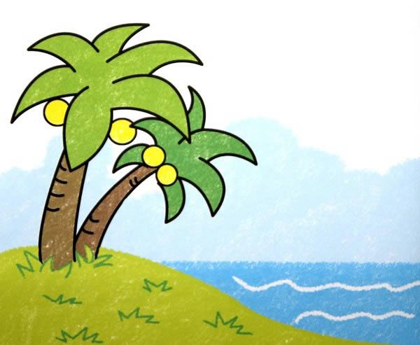 数字油画-椰子树