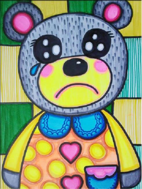 哭泣的小熊简笔画_哭泣的小熊图片欣赏