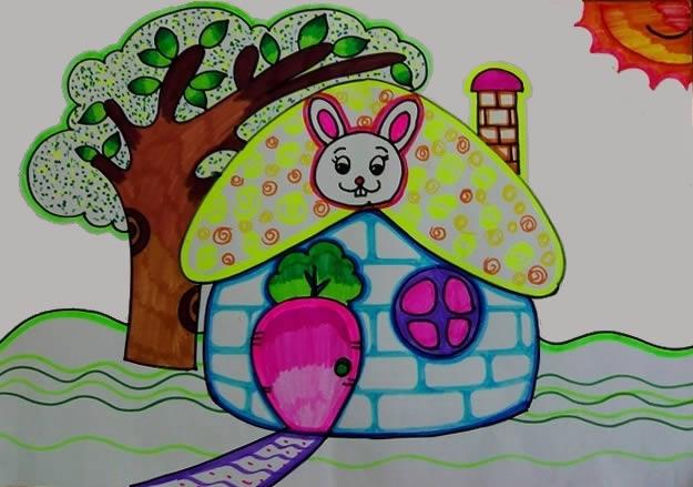 小兔子的家简笔画_小兔子的家图片欣赏