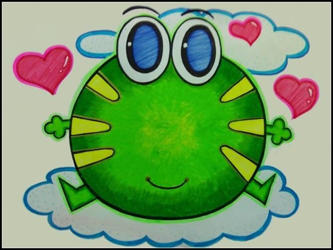 小青蛙简笔画图片大全可爱图片