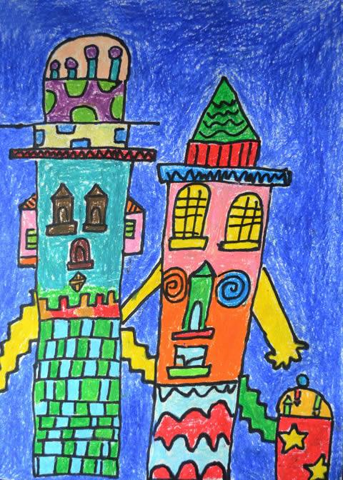 童话城堡简笔画 童话城堡图片欣