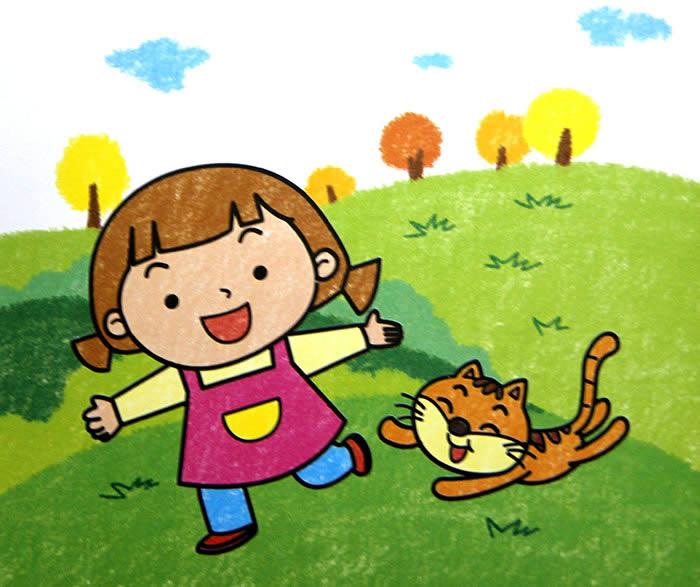 春游简笔画_春游图片欣赏_春游儿童画画作品-有伴网