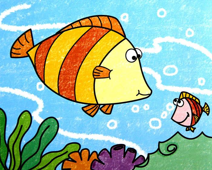 大鱼水中游简笔画_大鱼水中游图片欣赏