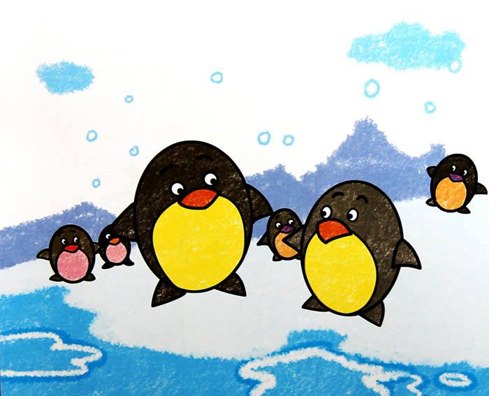 数字油画-小企鹅怎样画