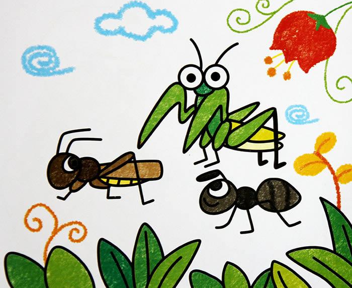 昆虫开会简笔画_昆虫开会图片欣赏_昆虫开会儿童画画